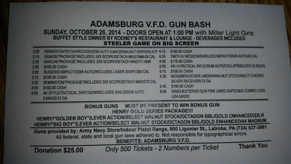 Gun bash 2014 fall
